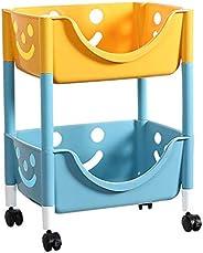 U-HOOME Kids Toys Storage Organizer Rack Shelf,Stackable Storage Bins for Toys, Snacks, Books,Bottles, Toiletr