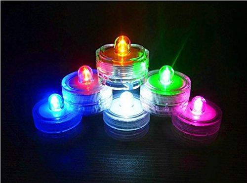 3er Set Tauchwasserdicht Unterwasser Teelichter Farbwechsel Flammenlose LED Kerzen Sicherheit f¨¹r Dekoration-Bunt und Wasserdicht