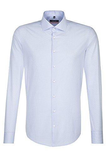 Seidensticker Slim Langarm MIT Spread Kent Kragen, Camicia Business Uomo Blu (Blau 17)