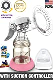 Trumom PPSU Gold Manual Advance Breast Feeding Pump with Suction Controller, Pink