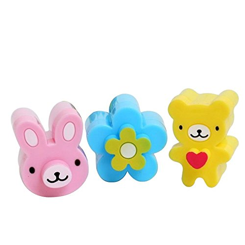 Upspirit 3CPS Cute Mini Sandwich Cutters Shapes Set for Kids Plastic Bento Sandwich Cutters Molds by Upspirit Brot-box