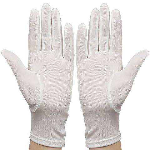 Membrane - Gants de soie blanche hydratants adulte soin pour Eczéma taille unique - Unisexe