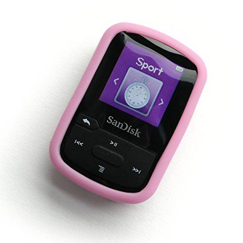 DTS/AC Silikon-Hülle/Bumper für Sansa Clip Sport Plus (pink/rosa) Pink Mp3 Sansa Clip