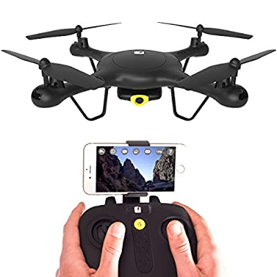 SPECTRE Drone with HD Video Camera - App Live View - Mini RC Quadcopter with Altitude Hold - WiFi & FPV