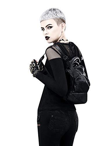 Fyyzg Schulterbeutel der Frauen der europäischen und amerikanischen Dampf-Punk-PU-Leder Stitching-Paket