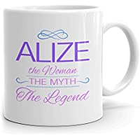 Alize Coffee Mug Tazas Personalizadas con Nombres - The Woman The Myth The Legend - Best