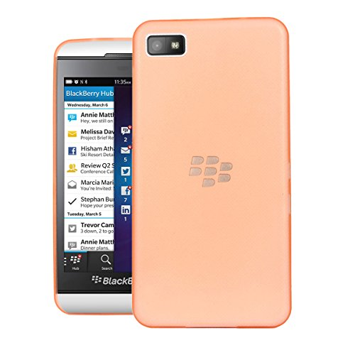 Blackberry Z10 Case, Kangaroo 0.6MM Air Series Hard Case Back Cover Bumper [ Semi-transparent ] Back Cover for Blackberry Z10 - Orange  available at amazon for Rs.348