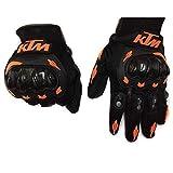 Motorradzubehör, Handschuhe, Winter-Motorradhandschuhe, Torwarthandschuhe, Roller MTB-Vollfinger-Unisexhandschuhe, Handschuhe für Männer/Frauen KTM Orange (Size : XL)