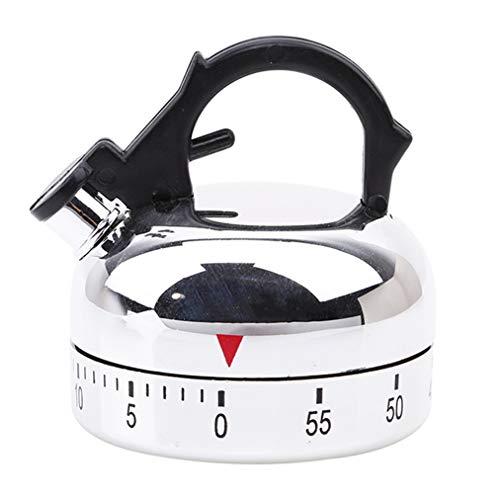 Sevenfly Kleiner Wasserkocher Mechanischer Timer, 60 Minuten Küchentimer Alarm Mechanische Teekanne Shaped Timer Clock Thermometer Timer zählen