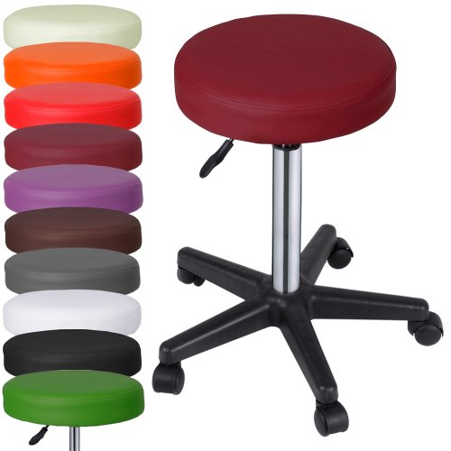 Miadomodo–elegante taburete de altura ajustable cómodo suave acolchado silla