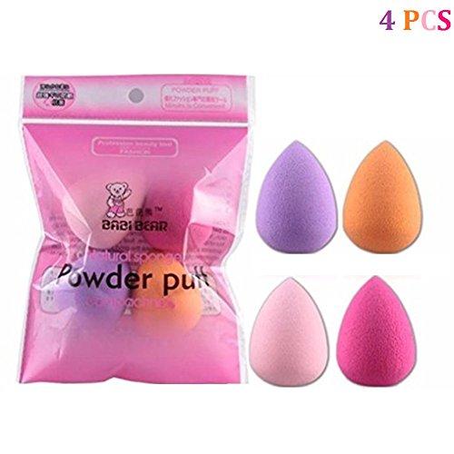Cdet 4PCS Makeup Sponge Poudre Puff Coton Pad Eau de Goutte Maquillage Eponge Couleur Aléatoire
