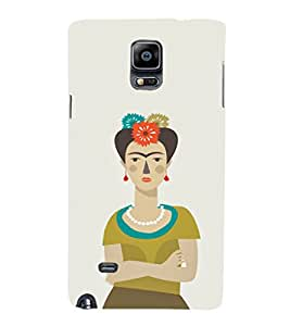EPICCASE Grumpy female Mobile Back Case Cover For Samsung Galaxy Note 4 EDGE (Designer Case)