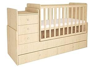 101123490, Polini Kids Kombi-Kinderbett Simple 1100 mit Kommode natur, 1227.30
