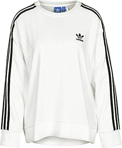 adidas BJ8193 Sweat-Shirt Femme, Blanc, FR : 42 (Taille Fabricant : 42)