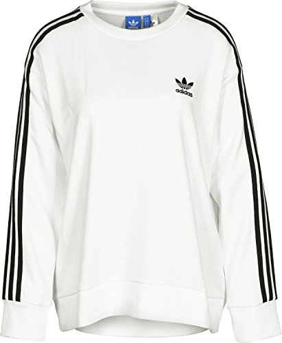 Adidas 3S A-Line Sweat, Felpa Donna, Bianco, 42