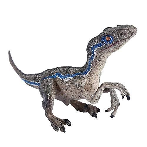 Smandy Dinosaurier Velociraptor Raptors Dinosaurier Spielzeug Modell Kunststoff Simulation Dinosaurier Spielzeug für Home Office Desktop Decor Kinder Geschenk, 8,7 x 3,9 x 2,4 inch (Kunststoffe Raptor)