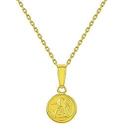 Or Argent sterling 925Ange gardien catholique Médaille bébé Collier de 40,6cm