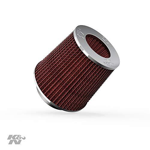 K&N RG-1001RD KFZ und Motorrad Universalluftfilter, Chrom