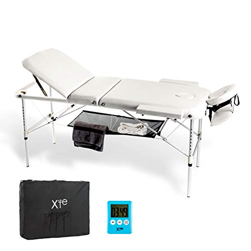 3 zones Aluminium Table de massage portable inclinable gratuit avec minuteur et porte-serviettes