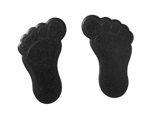 RIDDER 69500 Mini Dusch- und Badewanneneinlage XXS, Saugtiere, Wannentiere, Badespaß, Füße schwarz, 6 Stück