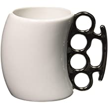 Fred & Friends Fisticup - Taza de desayuno, asa con forma de puño americano