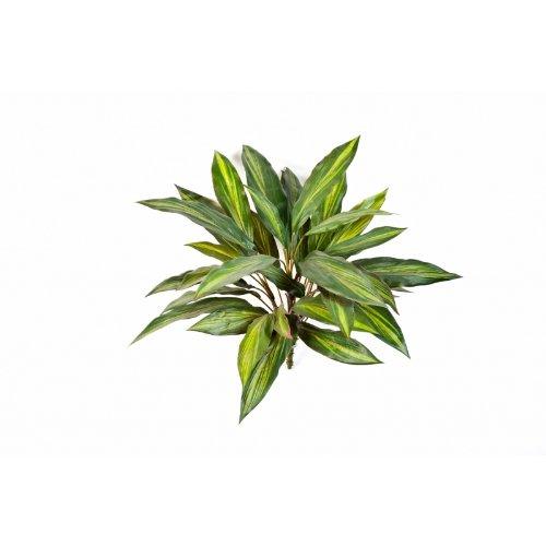 artplants Künstlicher Dracaena-Busch auf Steckstab, 36 Blättern, gelb-grün, 50 cm – Dekopflanze/Kunstpflanze