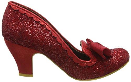Irregular Choice Kanjanka, Escarpins femme Rouge - Rouge