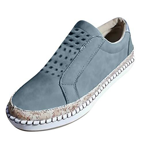 Wanderschuhe, Selou New Hollow Out Casual Sneakers Frauen Canvas Trekking Retro Hoch Leinen Freizeit Glitzer Schuheinlagen ErhöHung Bequeme Sneakers ()
