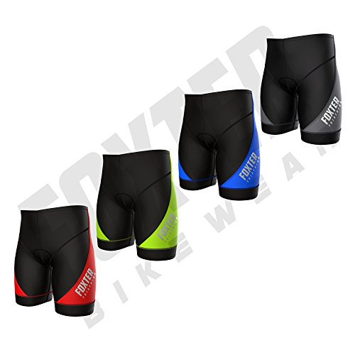Foxter Herren-Triathlon-Shorts Bike Tri Shorts Swim Bike Run, schwarz/blau, M