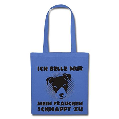 IchLiebeHunde.com, Borsa a tracolla donna Hellblau