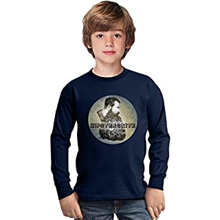 Hipstercrite Hipster Beard Moustache Amazing Kids Long Sleeved Shirt by Benito Clothing - 100% Cotton- Ideal For Active Boys-Casual Wear - Perfect For A Present Unisex 14-15 years