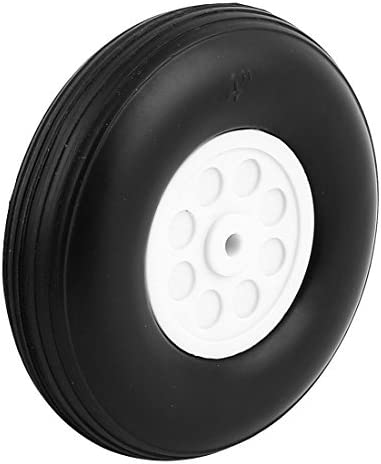 DealMux 5 millimètres Trou Arbre RC Avion PU Tail Tire Rubber Rouleau Roue métrique D102 H28 | En Qualité Supérieure