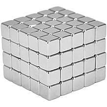 Imanes estupendos del neodimio cubos 5 x 5 x 5 milímetros [100 pedazos] imanes muy fuertes para los tableros magnéticos de cristal, tablero magnético, whiteboard, pizarra, pared, refrigerador