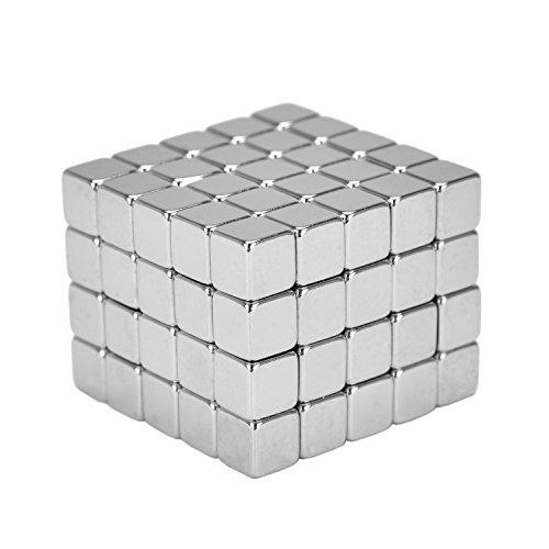 eLander Neodym-Super-Magnete Würfel 5 x 5 x 5 mm [100 Stücke] Sehr starke Magnete für Glas-Magnetboards, Magnettafel, Whiteboard, Tafel, Pinnwand, Kühlschrank, und vieles mehr