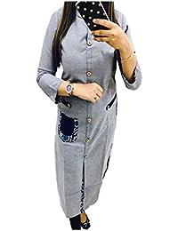 Muta Fashions Rayon Cotton Grey Women Kurti (KURTI183_Grey )