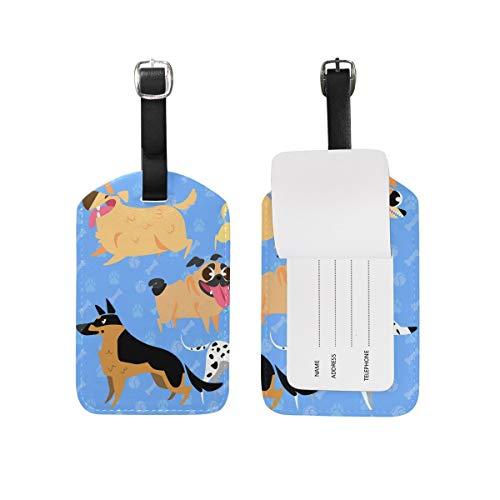 Etiquetas de Equipaje para Perros Cachorros Juego de 2 Piezas Etiqueta de...