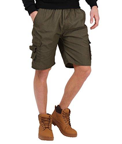 7951-DKHA-XL: Herren Cargo Shorts (Dunkel Khaki, Gr.XL)
