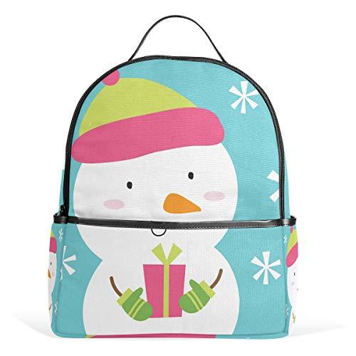 School Bag Snowman Cute Studentenrucksack for Boys Teen Girls Kids (Cute Teen Boy)