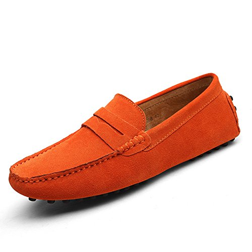 XiaoYouYu Loafers, Basses homme Orange