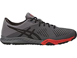 ASICS Mens Weldon X Carbon/Black/Prime Red Nordic Walking Shoes - 10 UK/India (45 EU)(11 US)