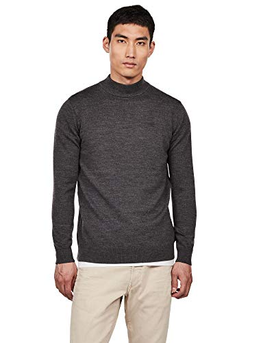 G-STAR RAW Herren Core Mock Turtle Strickpullover -