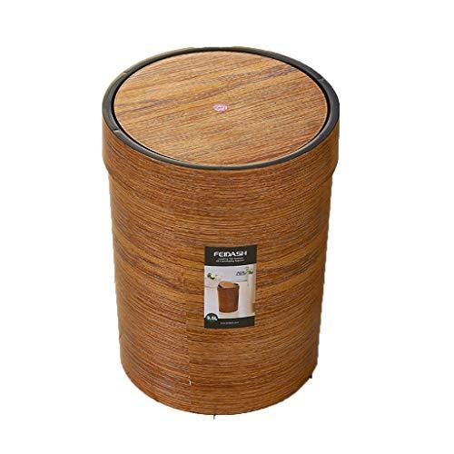Ronde secousse poubelle grande salle de bains en bois cuisine maison salon créatif seau