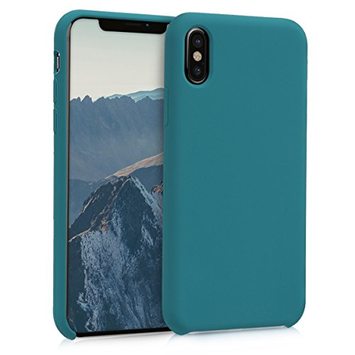 kwmobile Apple iPhone X Hülle - Handyhülle für Apple iPhone X - Handy Case in Petrol