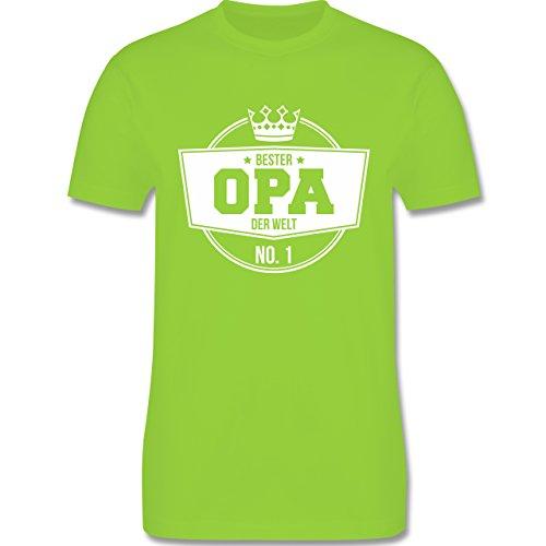 Shirtracer Opa - Bester Opa der Welt - Herren T-Shirt Rundhals Hellgrün