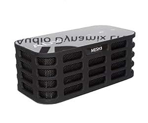 Haut-parleur stéréo BluetoothV4.0 Audio Dynamix® MESH3 - Noir- 14 h de lecture, portée Bluetooth de 20 m et basses accentuées