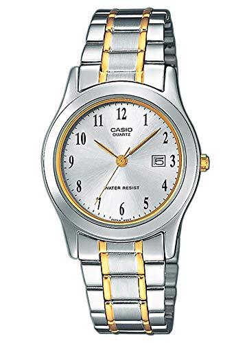 Casio Damen Analog Quarz mit Edelstahl Armbanduhr LTP 1264PG 7B