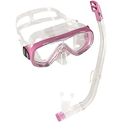 Cressi Sub S.p.A. Ondina Vip Set de masque + tuba plongée enfant Transparent/Rose