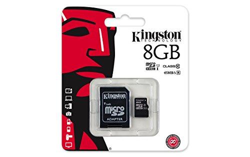 Kingston SDC10G2 – Tarjeta microSD (Clase 10 UHS-I 45MB/s)