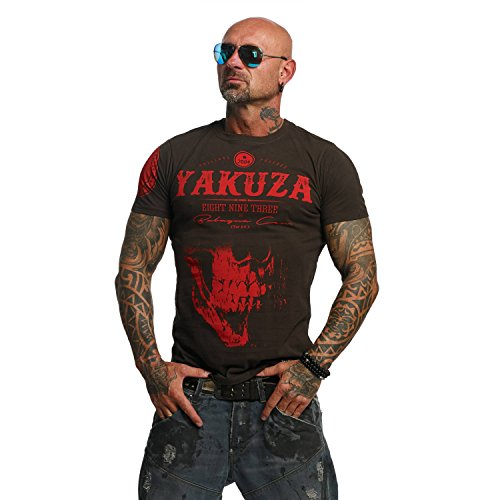 Yakuza Original Herren Daily Skull T-Shirt - Coffee Bean - Gr. 5XL