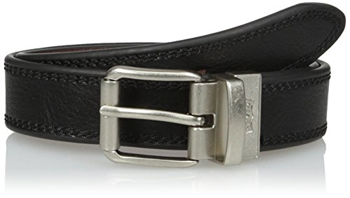Levi's Big Boys Levi's Boys Reversible Belt With Stitch Edge and Roller Buckle, black/Brown